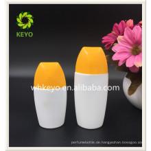 50 ml Heißer verkauf hohe qualität farbige leere kosmetische verpackung sonnenschutz flasche
