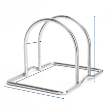 Kitchen Rack With Stainless Steel Cutting Board Holder