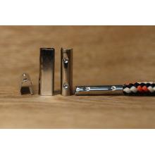 Extremidade do grampo do metal para o shoelace & o cabo terminal que prende a ferramenta