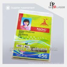 Hologramm Plastikauflage für Identifikation-Karte mit kundenspezifischem Firmenzeichenentwurf