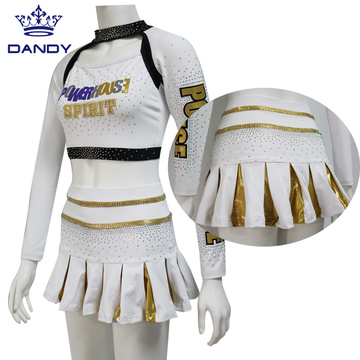 Youth Gold AB Kristaller Cheerleading Outfits