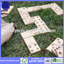 Giant wooden dominoes for big fun