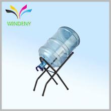 Fábrica de suministro de 5 galones botella de agua de la pantalla rack de alambre de metal portátil