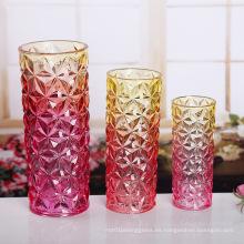 Jarrón de cristal coloreado de moda del florero de flor