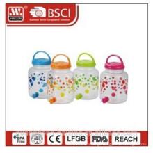 plastic beverage jug with faucet 3.9L
