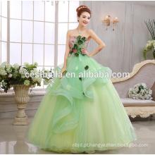 2017 New Arrival Vestido de noiva verde limão Sweetheart Vestido de Noiva Vestido de noiva Vestido de noiva Vestido verde