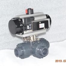 Plástico de alta qualidade união verdadeira 3 vias UPVC conexão união airpowered válvula de esfera