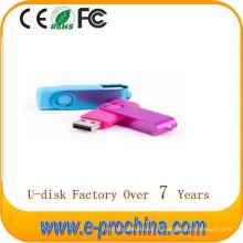 Movimentação quente da pena da movimentação do flash do USB do giro do metal da venda