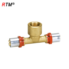 B17 4 13 female press fitting female tee tee joint pipe tube pipe fittings
