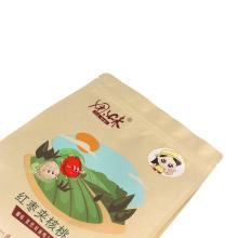 Customized Kraft Paper Nuts Packaging Bag