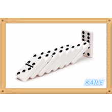 Double 6 snow white domino pack in wooden box