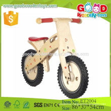 2015 high quality 12'' eva tire wooden balance bicycle for children