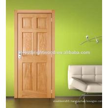 6 Panel Oak Nature Veneer Stile and Rail Door for Dining Room