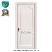 Puerta de madera maciza compuesta color blanco (ds-039)