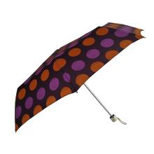 paraguas de diseño de puntos resistente al viento fuerte de aluminio