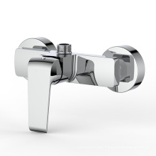 Chrome wall mounted bathroom fittings bath shower faucet hot and cold single handle shower mixer taps