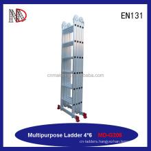 Aluminum Multi-purpose Ladder Folding ladder 4X7 with big hinge