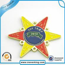 Cheap Custom Star Shape Metal Lapel Pin Badge