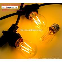 SL-51 imperméable à l'eau 15M 15 sockets cordons d'éclairage de qualité commerciale E26 E27 Holiday LED String Light