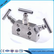 Colector de válvula de 3 válvulas de alta qualidade, colectores de fluxo, válvula de sangramento e de purga