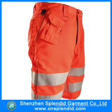 Venda Por Atacado Mens 6 Pocket Hi Vis Orange Cargo 3/4 Calças