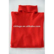 Pullovers de colar alto de senhora, blusas de gola alta, t-shirts