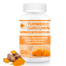 Premium Hemp Ginger Extract Biotin Turmeric Gummy Drops for Joint Support Anti Inflammation