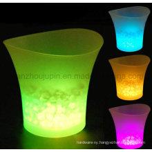 OEM Logo Plastic Luminous LED Ice Bucket
