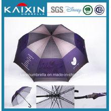 Полиэстер с покрытием Серебряный Гольф Прямо Umbrella
