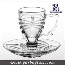 Ensemble de tasse et de soucoupe de petit verre 3 oz (TZ-GB09D0303TW)