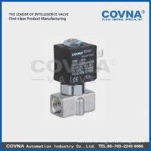 AC 220V Guía Tpye Micro electroválvula de acero inoxidable