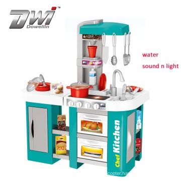 DWI 2019 Top Quality Children Kitchen Sets For Kids Play Children plastic Kitchen Toy Set