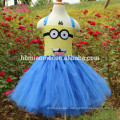 Cute Minions Girls Dress Cosplay Minion Girls Tutu Dress Halloween Costume Christmas Party Performance Princess Tulle Dresses