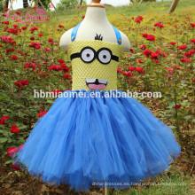 Cute Minions Girls Dress Cosplay Minion Girls Tutu Dress Disfraz de Halloween Fiesta de Navidad Performance Princess Tulle Dresses