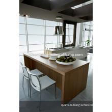 Cabinet de cuisine en mélamine à haute efficacité, design de cuisine indienne