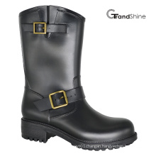 Women′s Injection PVC Horse Riding Boot with Blets and Buckles