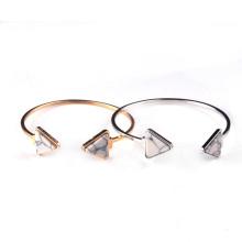 Copper Bangles Gold Plated Triangle Howlite Gemstone