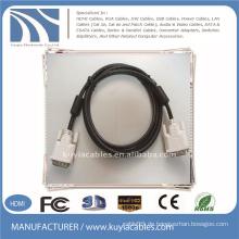 DVI bis DVI 18 + 1 Stecker auf männliches Kabel mit 2 Ferrit 5FT schwarz
