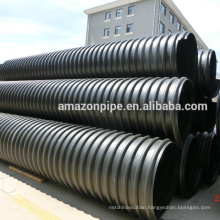 24 years factory Large Diameter Steel Reinforced Polyethylene Spiral PE Corrugated Pipe for Drainage