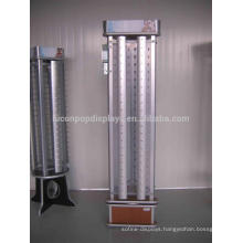 Quality Assured Rotating Wood Base Free Standing Pop Sports Eyewear Display With Metal Rods