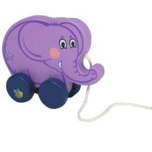 Baby Wooden Elephant Pulling-Toy Spielzeug
