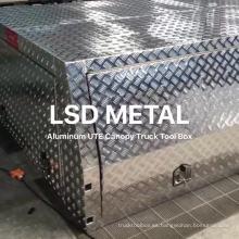 Caja de herramientas de aluminio Ute Canopy de 2400 mm con patas de gato y portaequipajes
