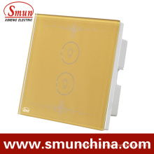 2 Key Touch Swithes Dourado, Interruptor De Controle Remoto De Parede