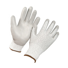 DMF Free PU Coated ANSI A4 Cut Resistant Working Safety Glove
