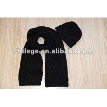 knitted cashmere hats,scarves & gloves sets