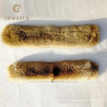 Écharpe en cachemire avec garniture en fourrure pour manteau / perroquet / col