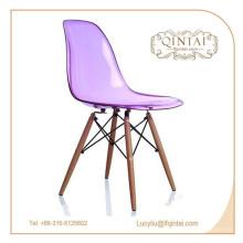 chaise de bureau en plastique en cristal de prix bon marché durable pour la vente