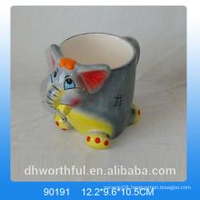 Hot sale 3D elephant shaped dolomite animal mug