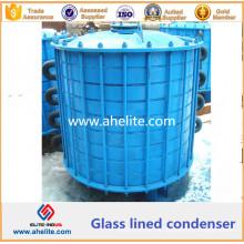 Condensador forrado de vidrio de acero suave