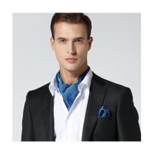 Gravata de seda Ascot de negócios com moda Hanky Set Ascot seda